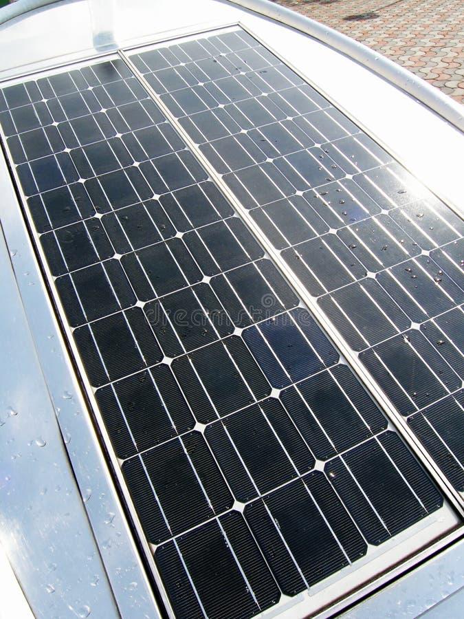 Helder zonnepaneel royalty-vrije stock foto