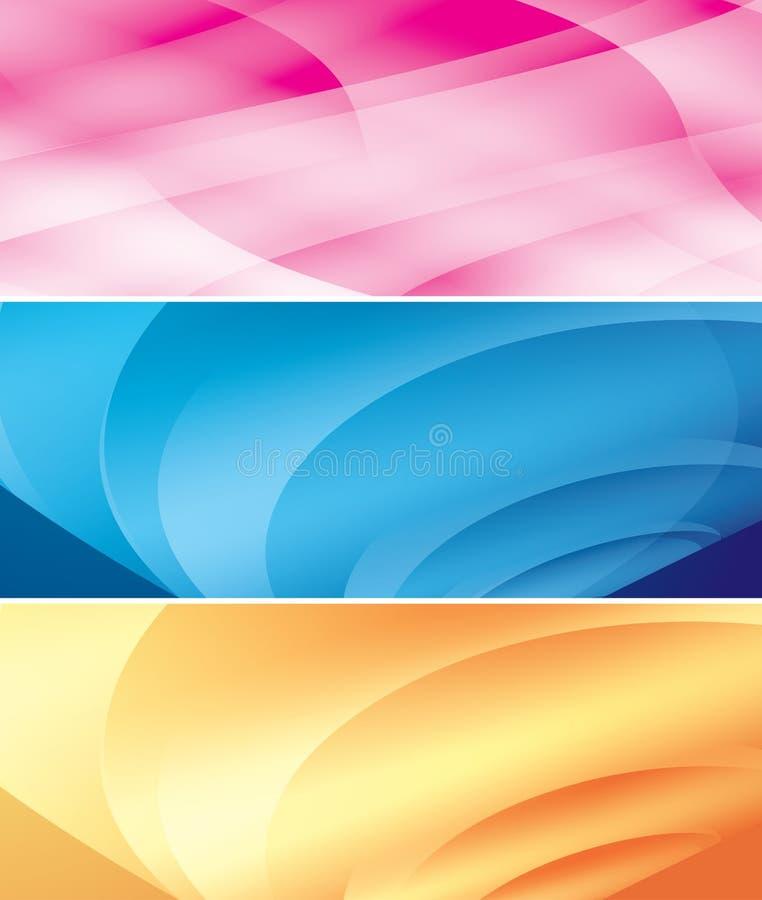 Heldere abstracte achtergronden stock illustratie