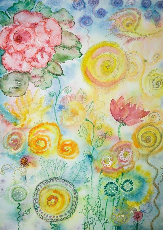 Heldere abstracte bloemen vector illustratie