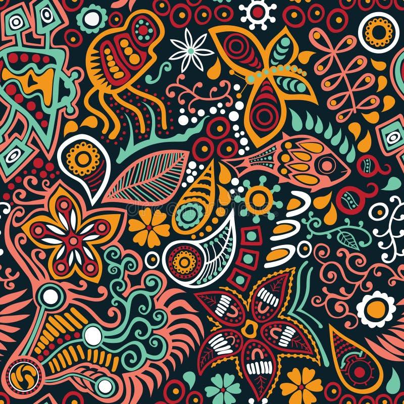 Heldere abstracte naadloze textuur royalty-vrije illustratie