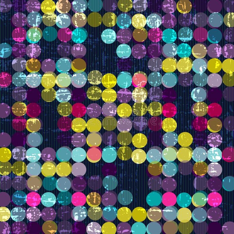Heldere abstracte psychedelische cirkels op een zwarte achtergrond Vector illustratie royalty-vrije illustratie