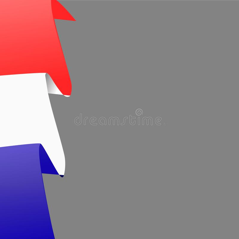 Heldere achtergrond met vlag van Frankrijk Bannerillustratie met vlag Gelukkige de dagachtergrond van Frankrijk vector illustratie
