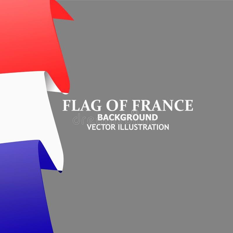 Heldere achtergrond met vlag van Frankrijk Bannerillustratie met vlag Gelukkige de dagachtergrond van Frankrijk royalty-vrije illustratie