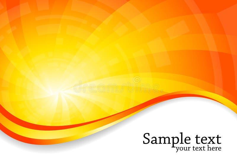 Heldere achtergrond in oranje kleur stock illustratie