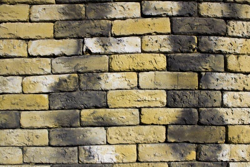 heldere bakstenen muur stock fotografie