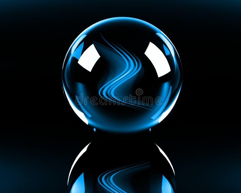 Heldere blauwe abstracte golven vector illustratie