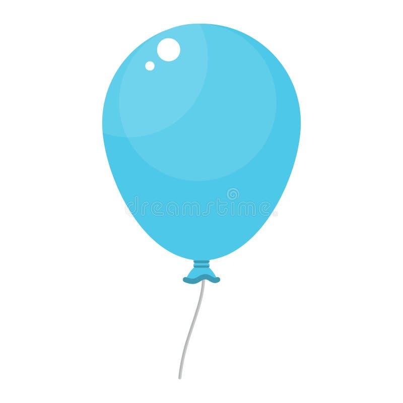 Heldere blauwe ballon stock illustratie