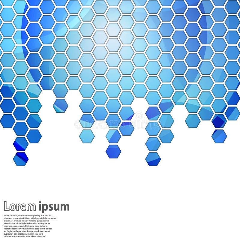 Heldere blauwe hexagon geometrisch vector illustratie