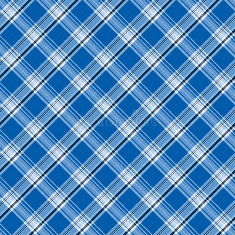 Heldere blauwe plaid royalty-vrije illustratie