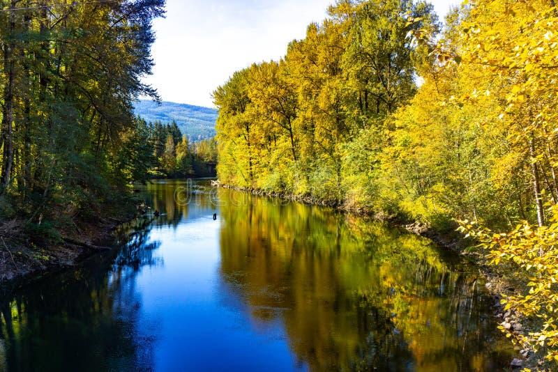 Heldere Blauwe Rivier Washington State royalty-vrije stock afbeeldingen