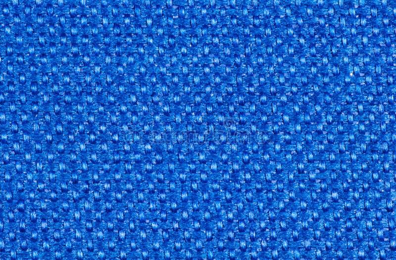 Heldere blauwe synthetische textielvezels stock afbeelding