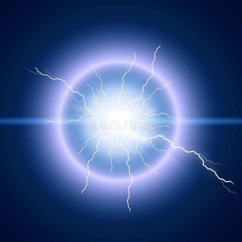 Heldere bliksemflits vector illustratie