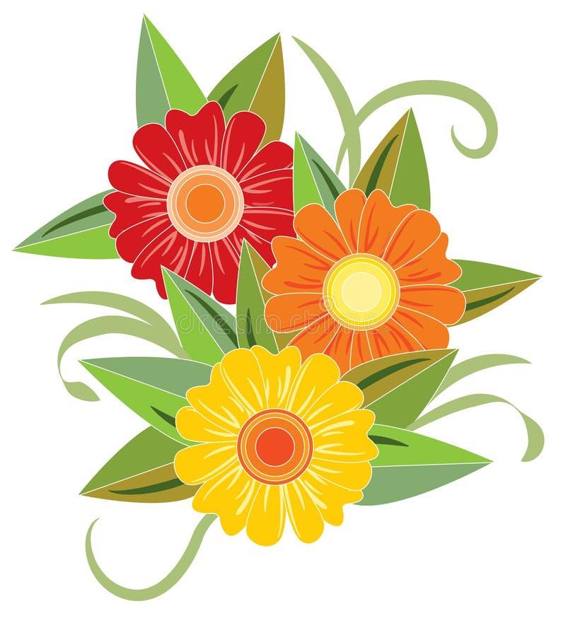 Heldere bloem drie stock foto