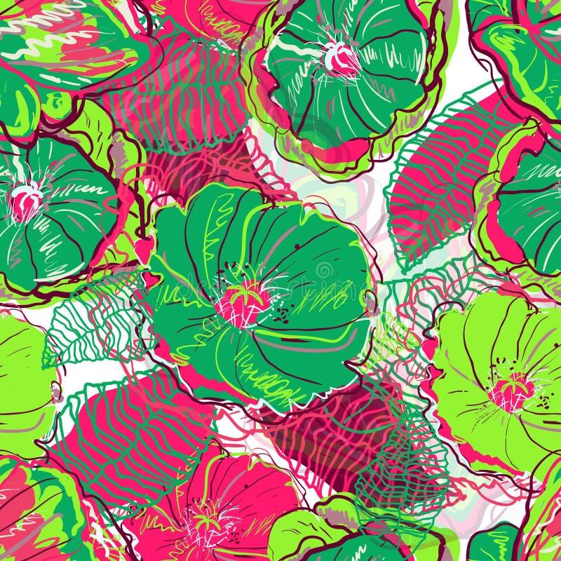 Heldere bloemen royalty-vrije illustratie