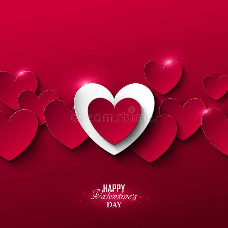 Heldere de dagachtergrond van Valentine ` s royalty-vrije illustratie