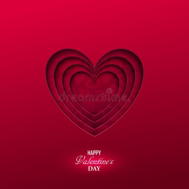Heldere de dagachtergrond van Valentine ` s stock illustratie
