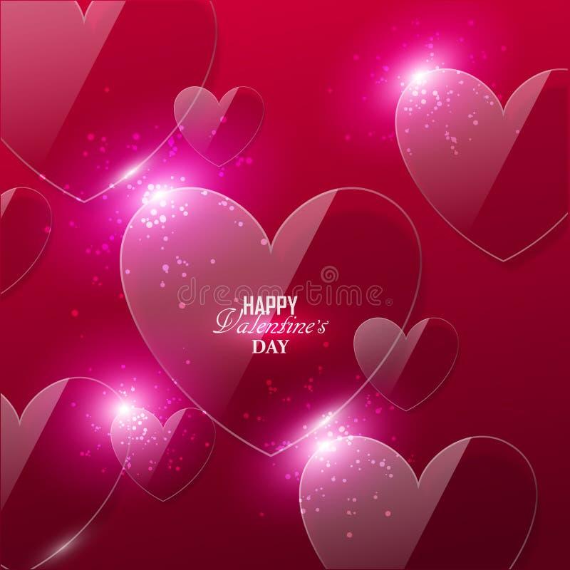 Heldere de dagachtergrond van Valentine ` s vector illustratie