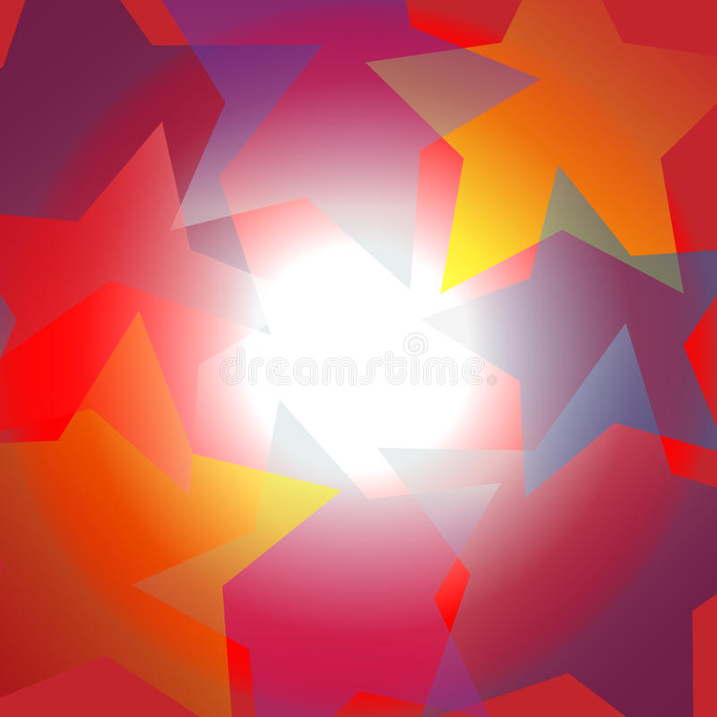 Heldere de schijnwerper abstracte achtergrond van het stercentrum stock illustratie