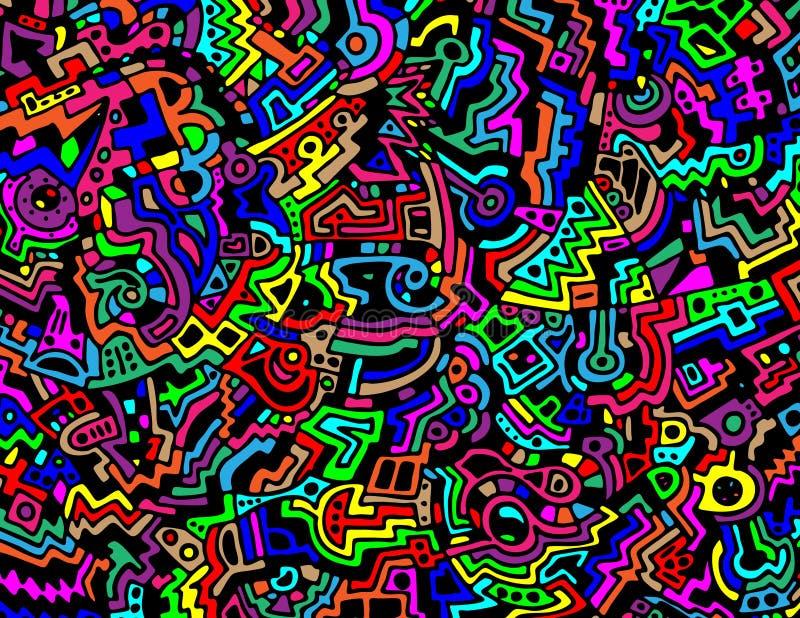 Heldere en Kleurrijke Abstracte VectorAchtergrond stock illustratie