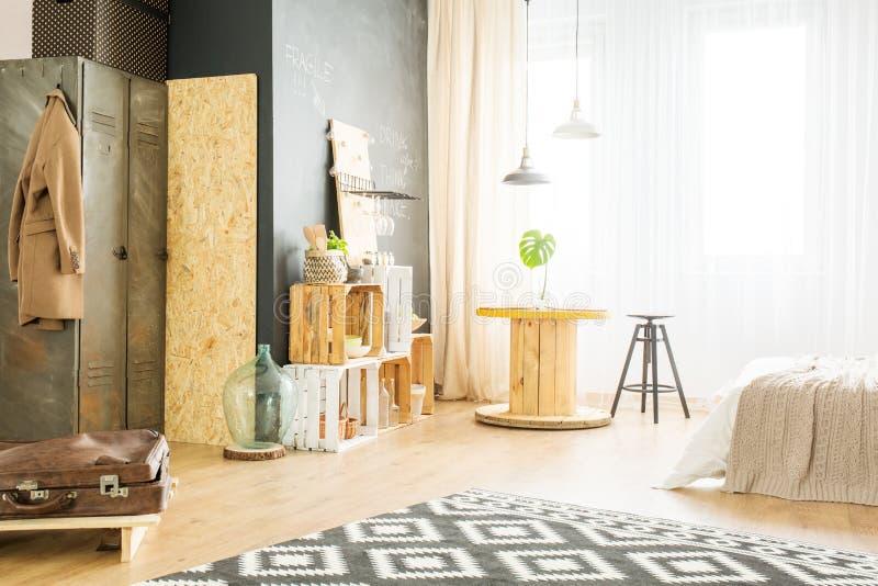 Heldere flat voor hipster royalty-vrije stock fotografie