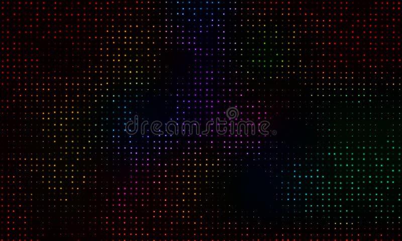 Heldere gekleurde fonkeling op een zwarte achtergrond Effect halftone Vectorachtergrond vector illustratie