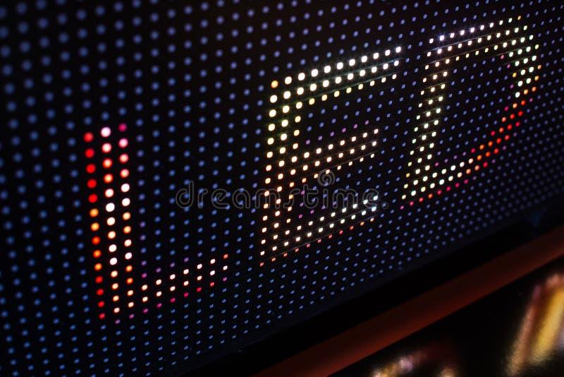 Heldere gekleurde LEIDENE videomuur met hoog verzadigd patroon - clos stock fotografie