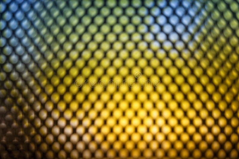 Heldere gekleurde LEIDENE videomuur met hoog verzadigd patroon - sluit omhoog achtergrond met ondiepe diepte van gebied royalty-vrije stock foto's