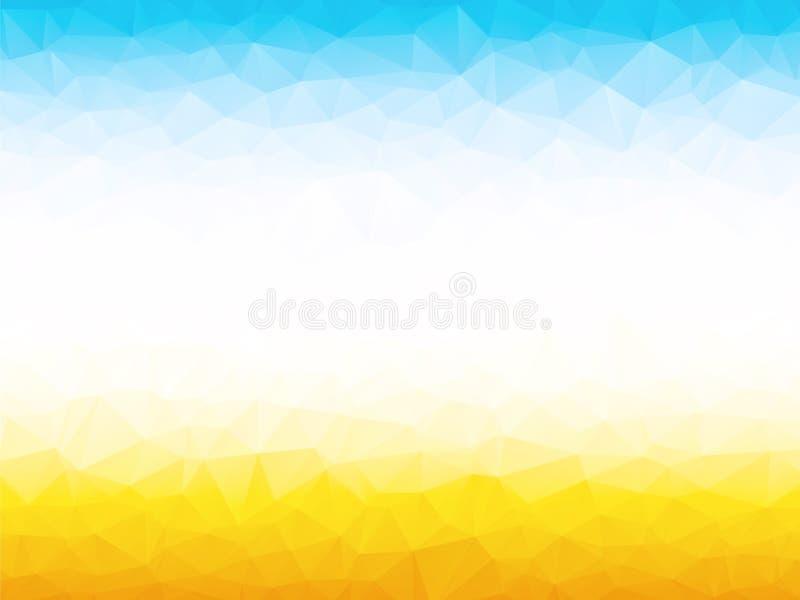 Heldere gele blauwe achtergrond vector illustratie