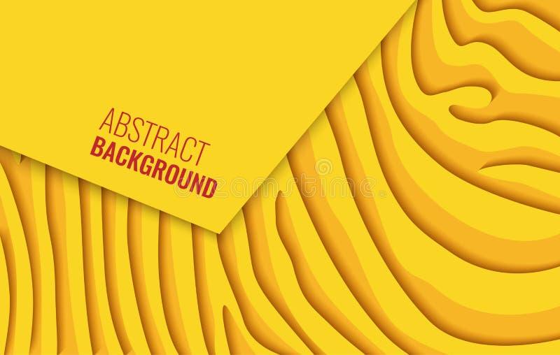 Heldere gele horizontale abstracte achtergrond Een gekleurd blad van document stock illustratie