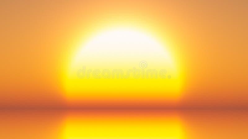 heldere gele zon royalty-vrije stock afbeeldingen