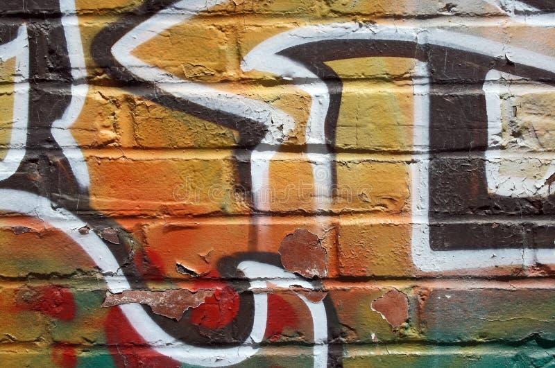 Heldere graffiti op een schilmuur royalty-vrije stock fotografie