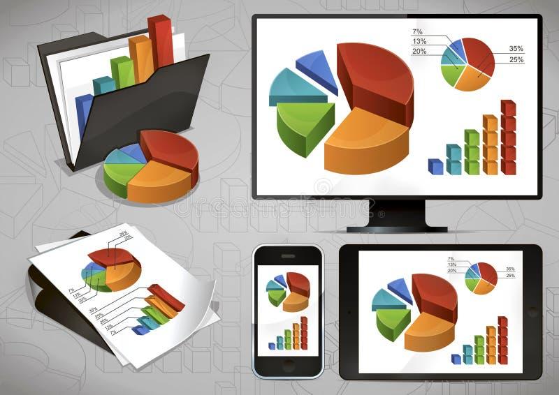 Heldere Grafieken en Apparaten stock illustratie