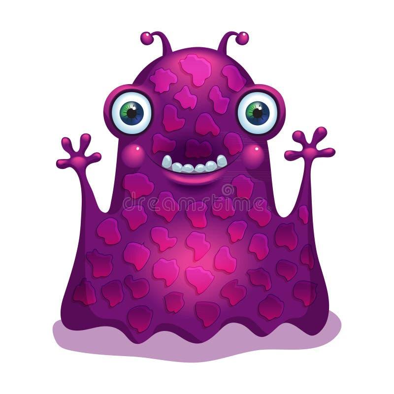 Heldere grappige monstervreemdeling Grafisch karakter vector illustratie
