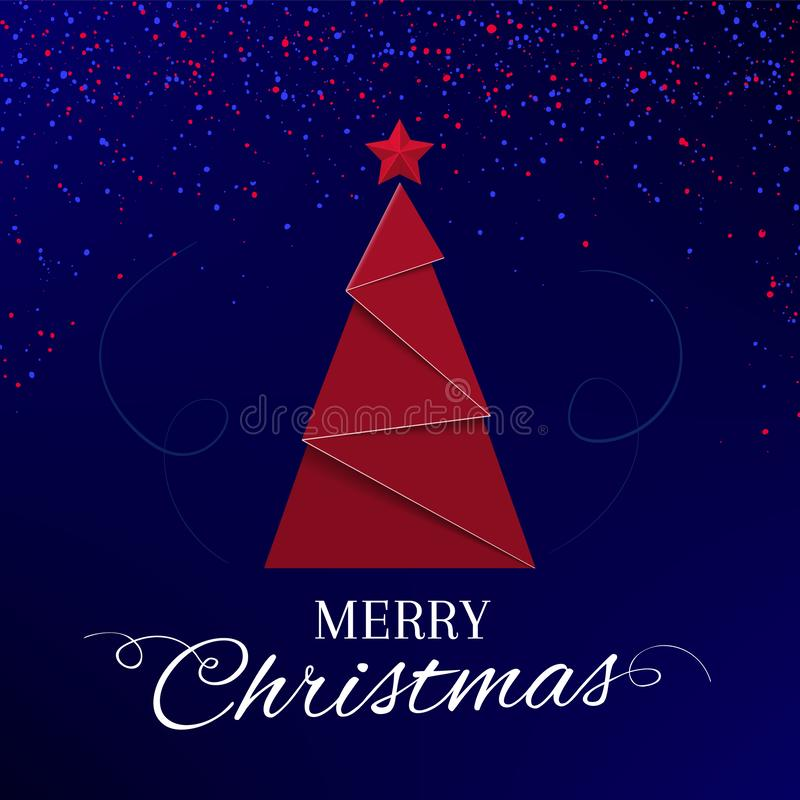 Heldere Kerstkaartontwerpen op blauwe achtergrond stock illustratie
