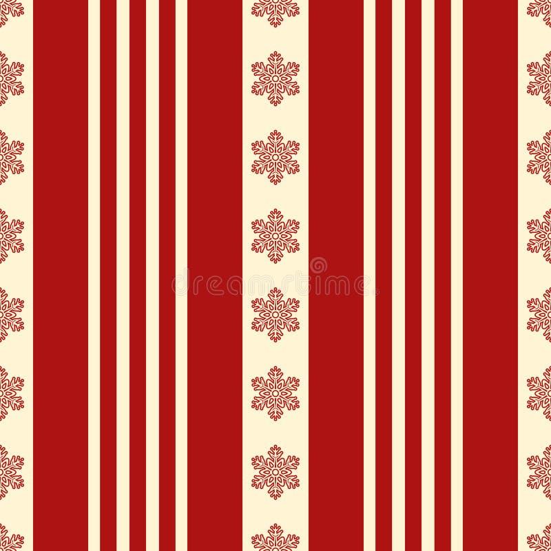 Heldere Kerstmis naadloze textuur Rode en gele sneeuwvlokken en patronen De winterstemming EPS 10 vector stock illustratie