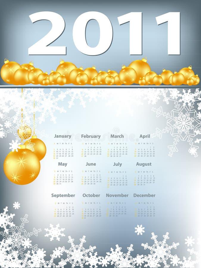 Heldere Kerstmiskalender royalty-vrije illustratie