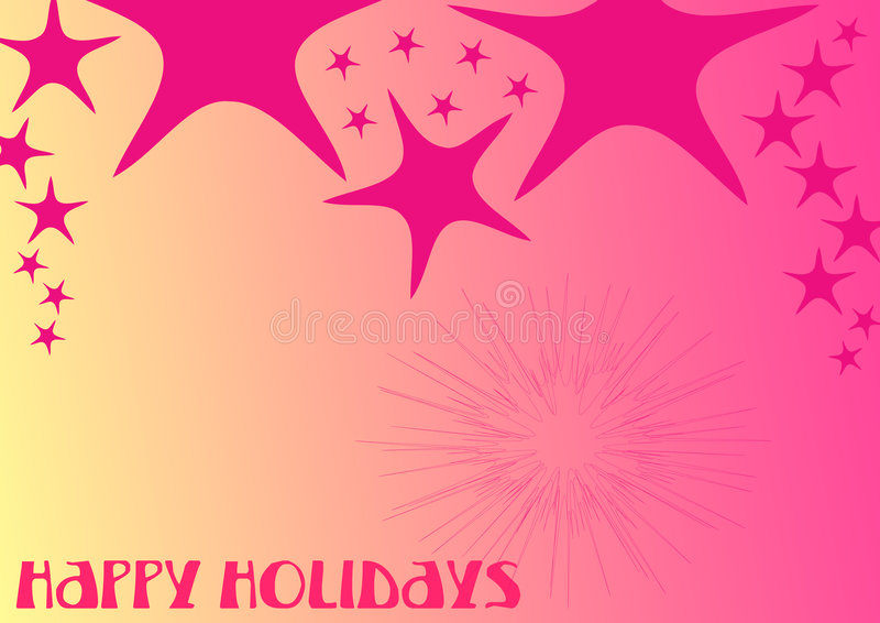Heldere kleuren - gelukkige vakantie 2 stock illustratie