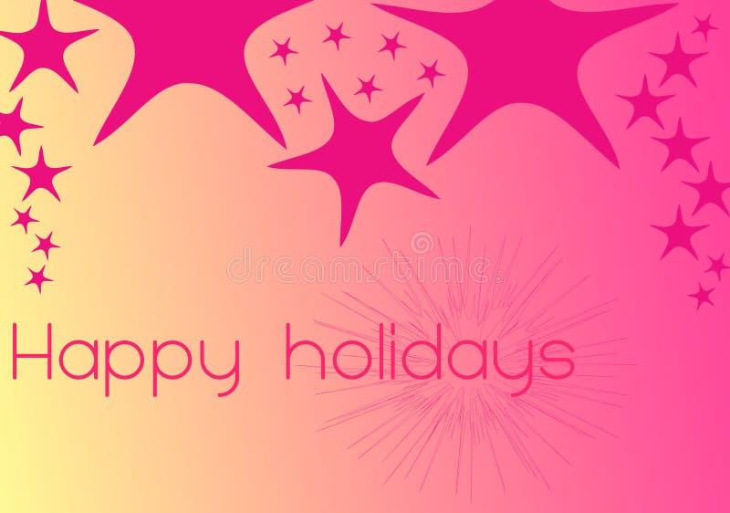 Heldere kleuren - gelukkige vakantie 3 royalty-vrije illustratie