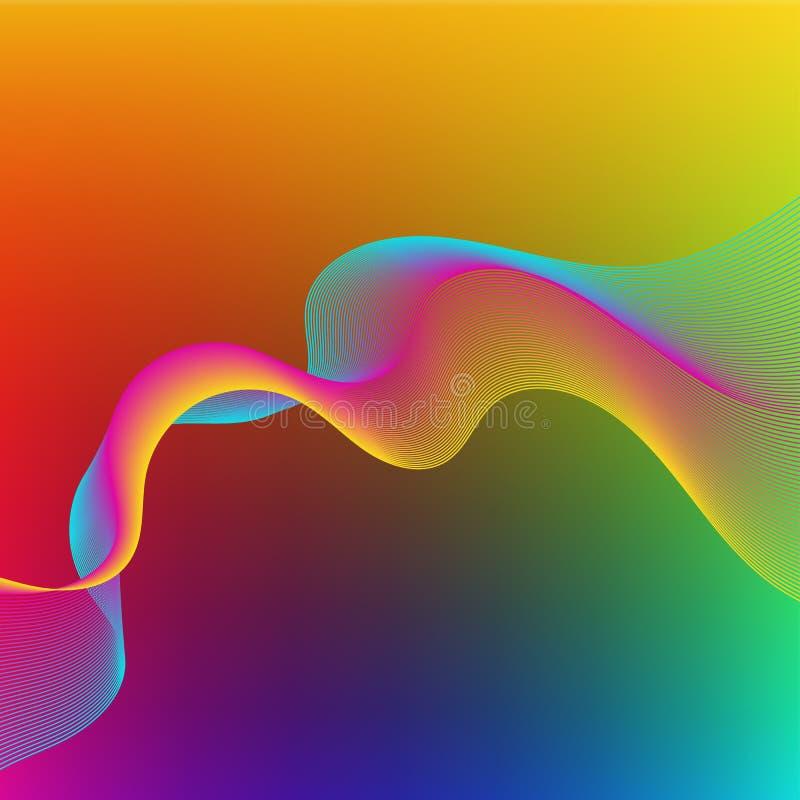 Heldere kleurrijke abstracte achtergrond royalty-vrije illustratie