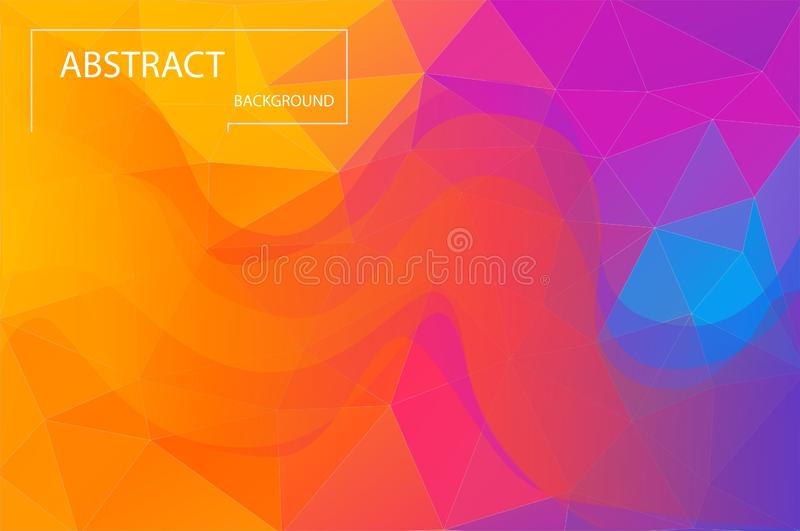 Heldere kleurrijke geometrische achtergrond Samenvatting van de gradiënt de trillende kleur stock illustratie