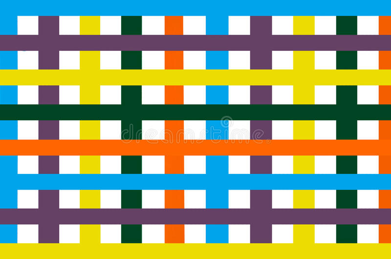Heldere kleurrijke gestreepte muurachtergrond, verticaal en horizontale kleurenstrook stock foto