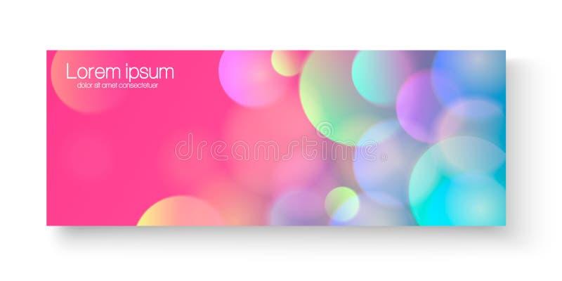 Heldere kleurrijke vectorbanner Heldere kleurrijke vector van de bannermalplaatje of website kopballen met abstracte geometrische vector illustratie