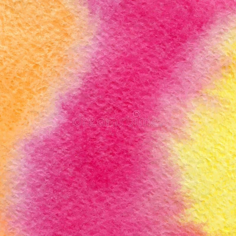 Heldere kleurrijke waterverf geweven vectorillustratie als achtergrond royalty-vrije illustratie