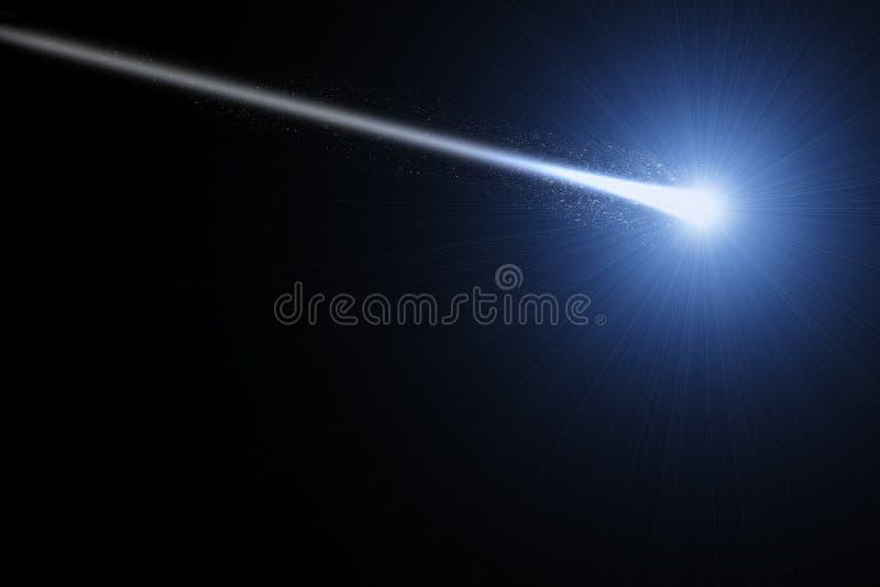 Heldere komeet in ruimte royalty-vrije illustratie