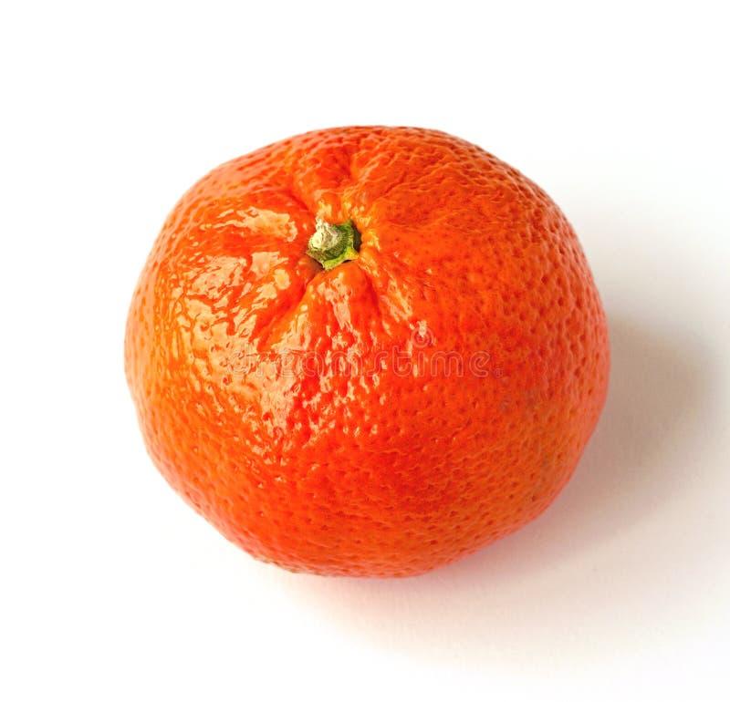 Heldere mandarin op een witte achtergrond royalty-vrije stock afbeelding