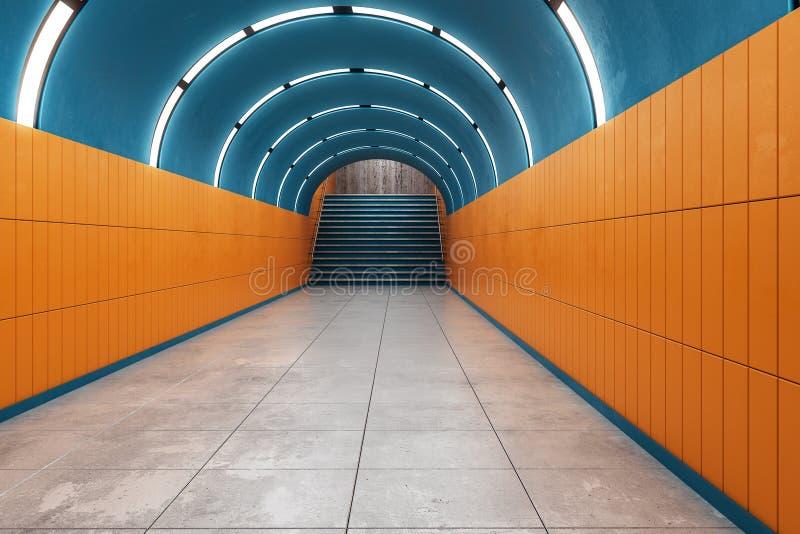 Heldere metrometro stock illustratie