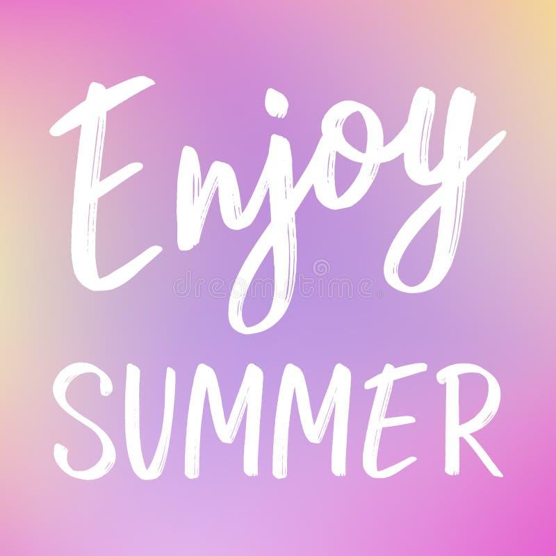 Heldere minimalistische de zomerachtergrond met het van letters voorzien vector illustratie