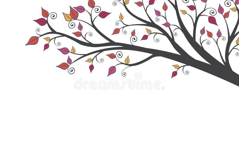 Heldere Moderne Daling Autumn Leaves Background 1 stock illustratie