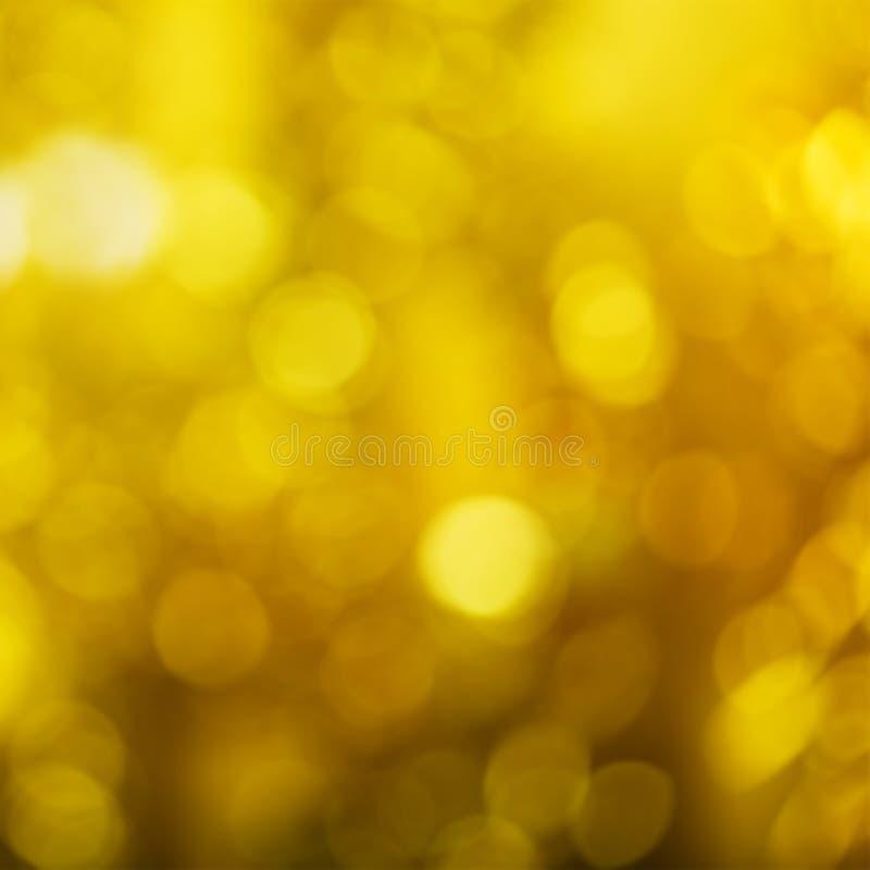 Heldere mooie gele Kerstmisachtergrond voor reclame stock foto's