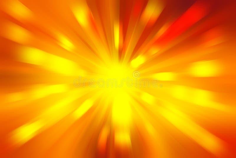 Heldere ontploffing van lichte achtergrond vector illustratie